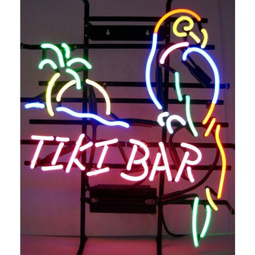 Neonetics Business Signs Tiki Bar Neon Sign
