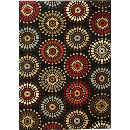 Barclay Black Orchid Fields Dots Rug