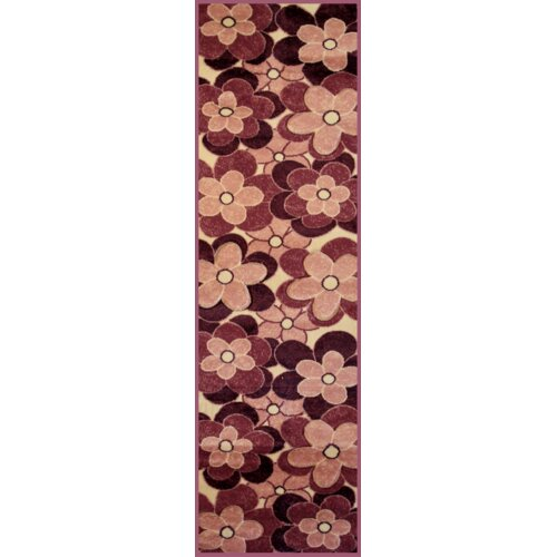 Harmony Purple/Off White Flowers Rug