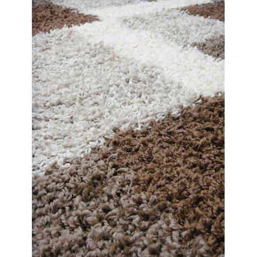 Infinity Home Madison Shag Beige/Brown Cubes Rug