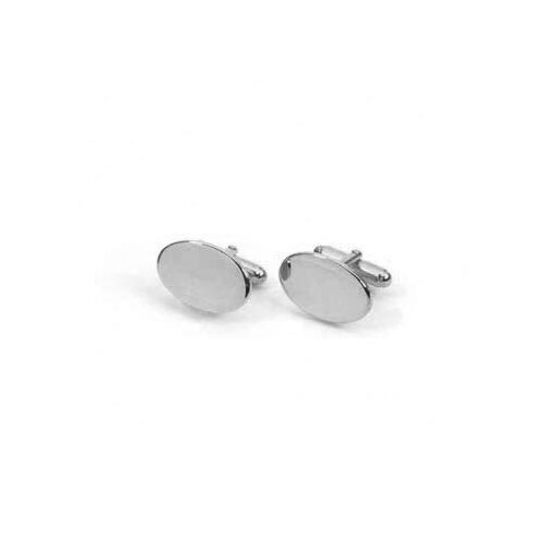 Sterling Silver Heavy Oval Cuff Link Set