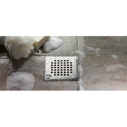 "QuARTz by ACO 6"" Quadrato Bathroom Shower Drain"