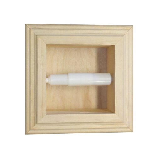 Wg wood products recessed mega toilet paper holder Wood toilet paper holders