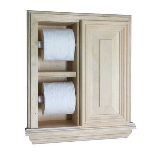 Wg wood products recessed deluxe toilet paper holder Wood toilet paper holders