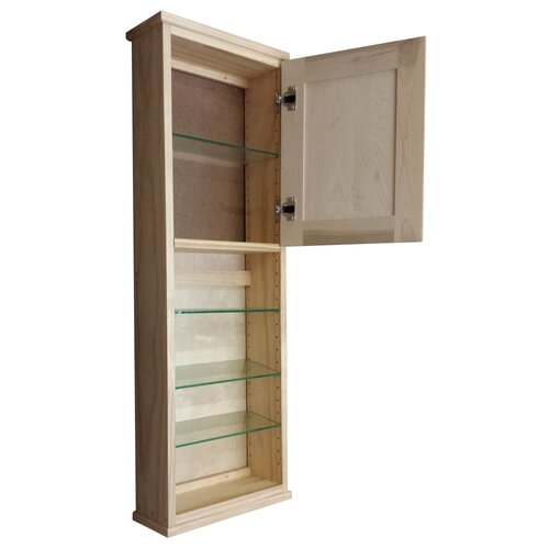 "WG Wood Products Shaker Series 15"" x 43.5"" Surface Mount Medicine Cabinet"