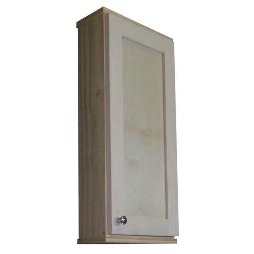 "WG Wood Products Shaker Series 15"" x 31.5"" Surface Mount Medicine Cabinet"