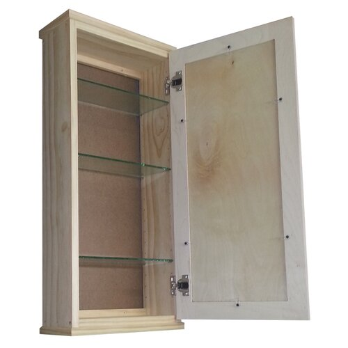 "WG Wood Products Shaker Series 15.25"" x 31.5"" Surface Mount Medicine Cabinet"