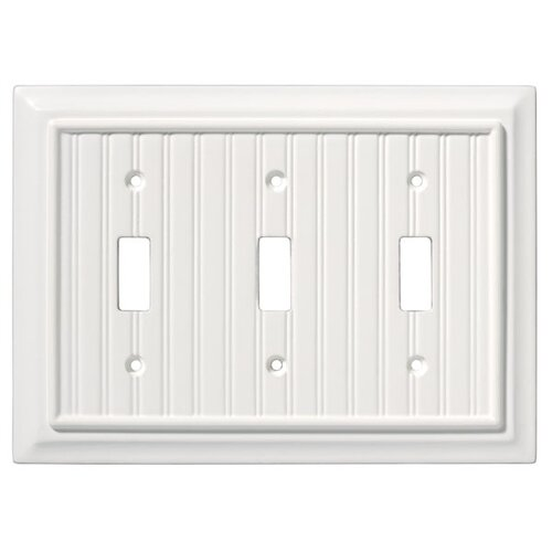 Brainerd Beadboard Triple Switch Wall Plate