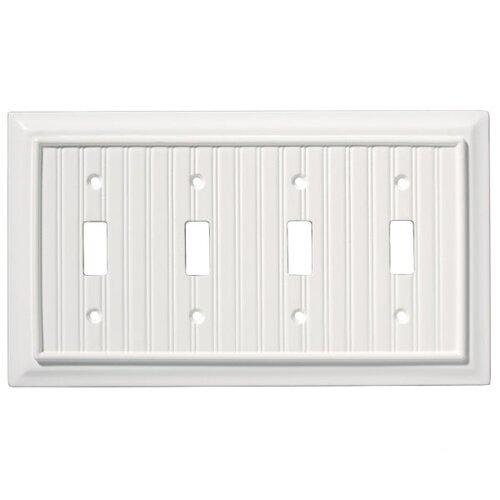 Brainerd Beadboard Quad Switch Wall Plate