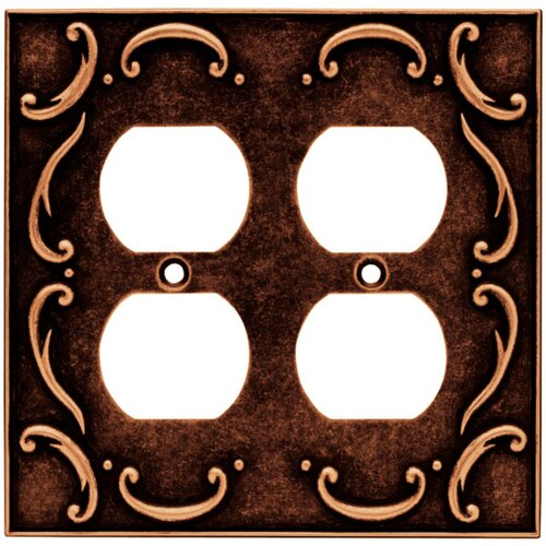 French Lace Double Duplex Wall Plate