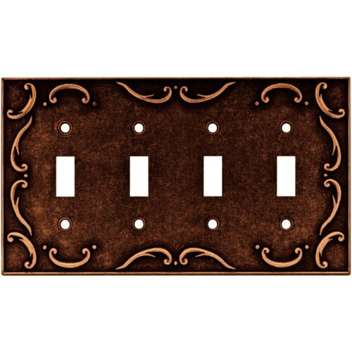 French Lace Quad Switch Wall Plate