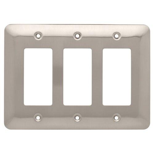 Brainerd Stamped Round Triple Decorator Wall Plate