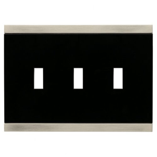 Brainerd Basic Stripe Triple Switch Wall Plate