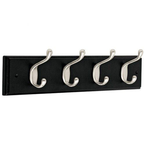 Liberty Hardware Heavy Duty 4 Hook Rail