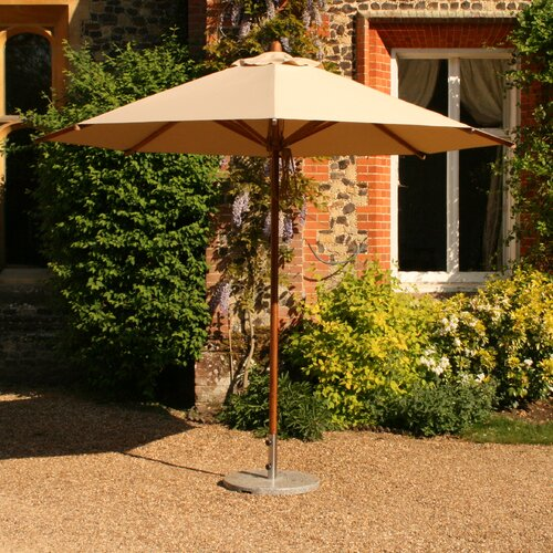 10' Round Bamboo Market Umbrella