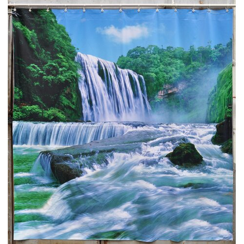 Jet Creations Waterfall Shower Curtain