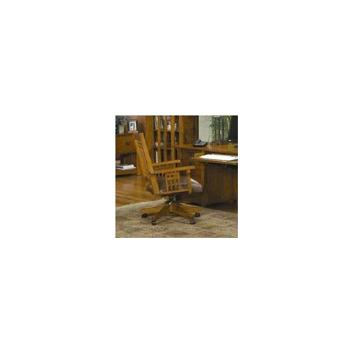 Bungalow Mid Back Wood Executive Office Chair