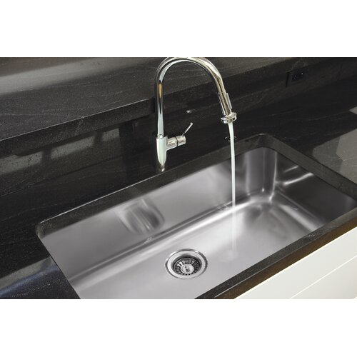 "Ukinox 30.5"" x 18.5"" Single Bowl Undermount Kitchen Sink"