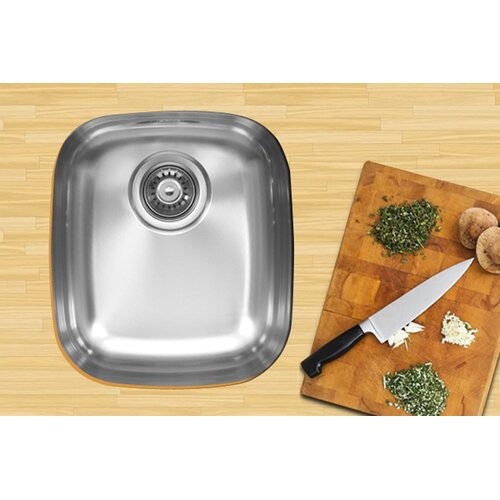 "Ukinox 17"" x 14.75"" Single Bowl Undermount Kitchen Sink"