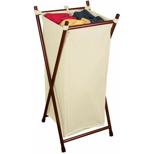 The Bag Stand Co Single Folding Hamper with Bag