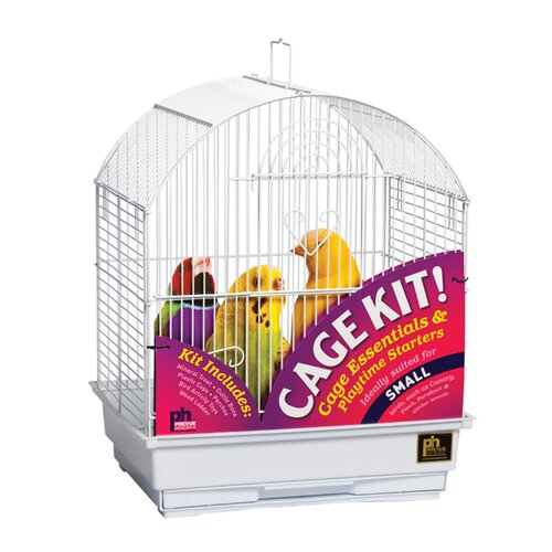 Prevue Hendryx Round Top Parakeet Bird Starter Kit