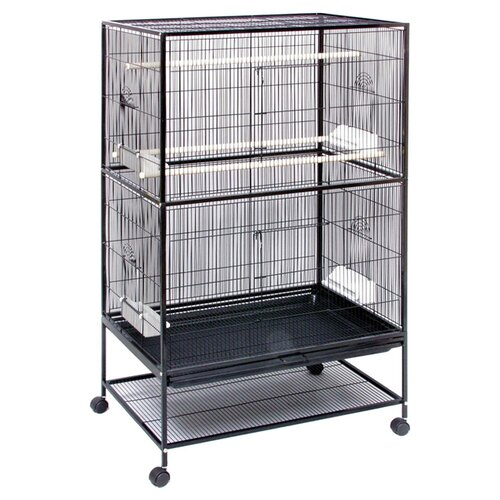 Prevue Hendryx Flight Bird Cage with Storage Shelf