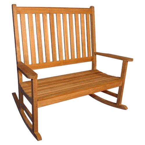 Regal Teak Teak Double Rocking Garden Bench