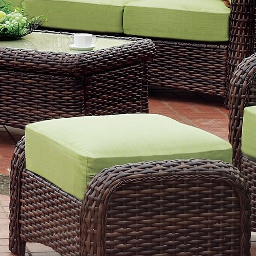 Saint Tropez Ottoman with Cushion