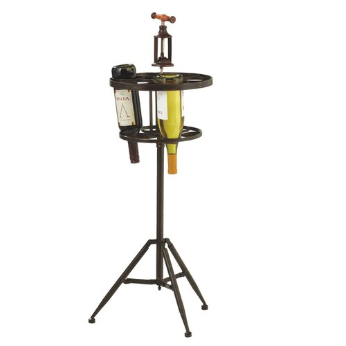 Corkscrew Tripod 6 Bottle Wine Rack