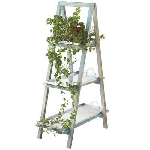 Tier Ladder Shelf Cottage Blue