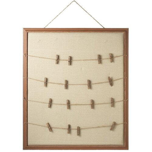 CBK Vintage Clothes Pin Message Board