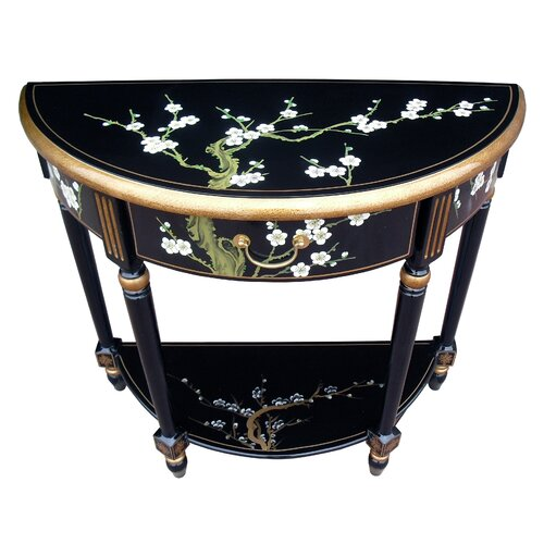 Grand international decor blossom half moon console table for International decor uk