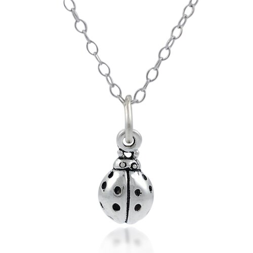 Children's Sterling Silver Ladybug Necklace