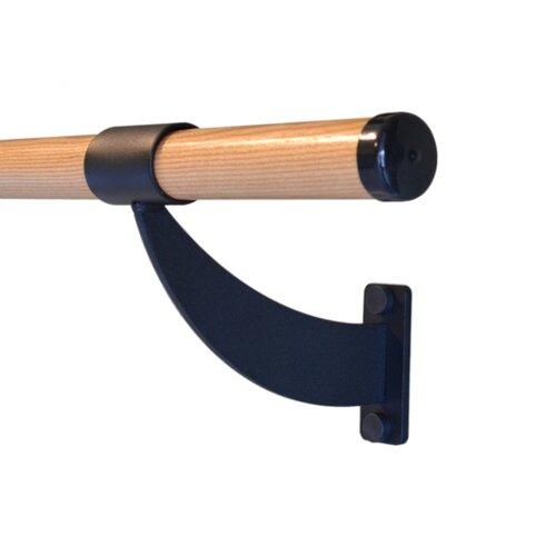 Vita Vibe Wall Barre Series Traditional Wood Single Bar Fixed Height Ballet Barre Kit