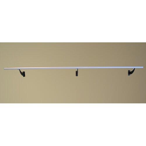 Vita Vibe Wall Barre Series Modern Aluminum  Single Bar Fixed Height Ballet Barre Kit