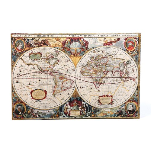 Art Wall Antique ''Hydrographical Map'' Graphic Art on Canvas