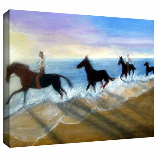 'Horses on the Beach Painting' by Lindsey Janich Gallery Wrapped on Canvas
