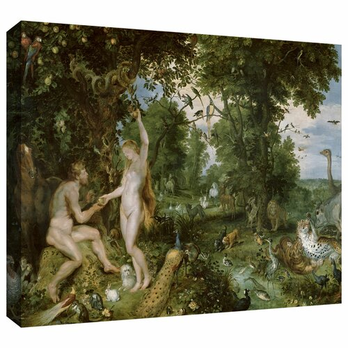 'The Garden of Eden with The Fall of Man' by Pieter Bruegel Gallery Wrapped on ...