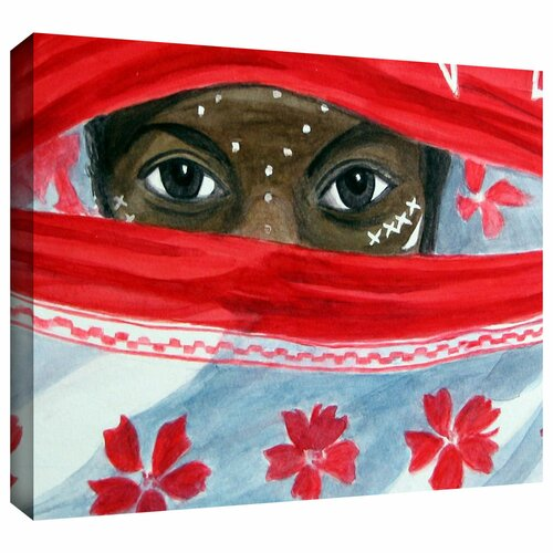'Arab Girl' by Lindsey Janich Gallery Wrapped on Canvas