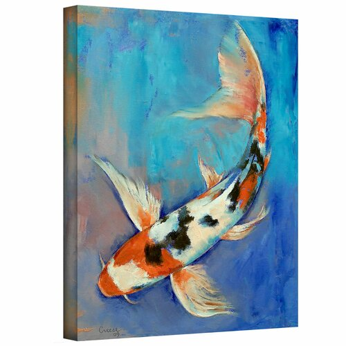 'Sanke Butterfly Koi' by Michael Creese Gallery-Wrapped on Canvas