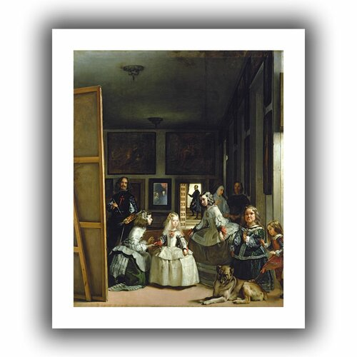 'Las Meninas or the Family of Philip IV' by Diego Velazquez Canvas Poster