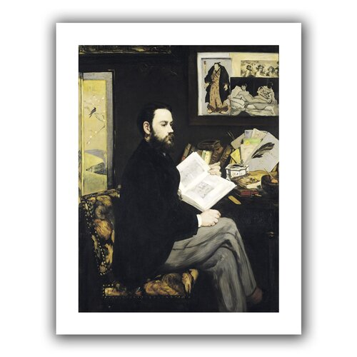'Portrait of Emile Zola' by Edouard Manet Unwrapped on Canvas