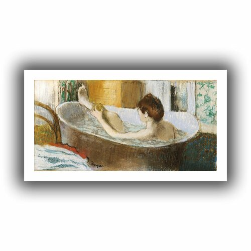 'Woman in her Bath, Sponging her Leg' by Edgar Degas Unwrapped on Canvas
