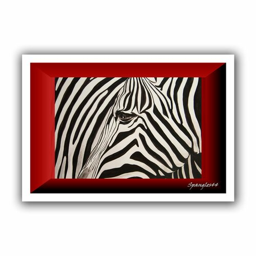 'Zebras Abstract' by Lindsey Janich Canvas Poster
