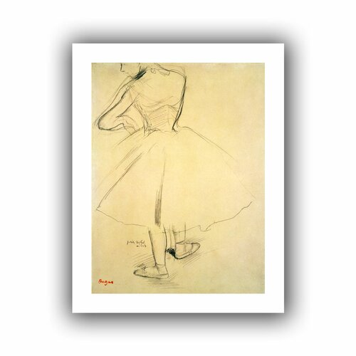 Art Wall 'Ballet Dancer from Behind' by Edgar Degas Unwrapped on Canvas