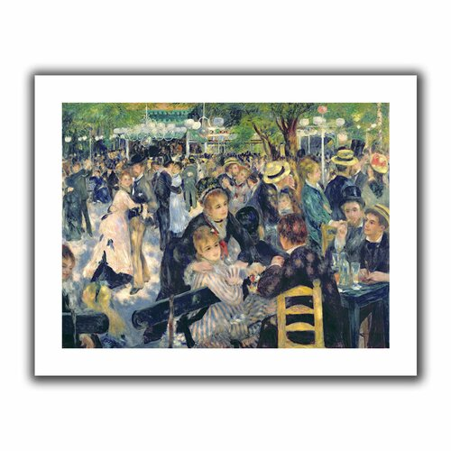 Art Wall 'Ball at the Moulin de la galette' by Pierre Renoir Unwrapped on Canvas