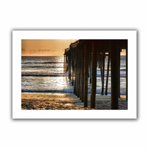 'Fishing Pier' by Steven Ainsworth Unwrapped on Canvas