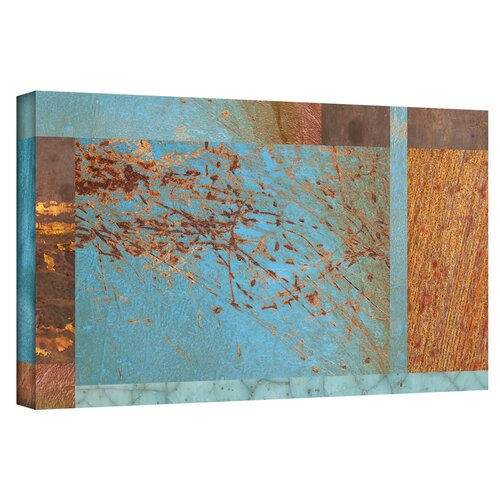 'Blue Brown Collage' by Cora Niele Gallery Wrapped on Canvas