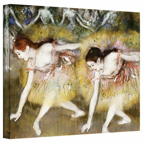 'Dancers Bending Down' by Edgar Degas Gallery-Wrapped on Canvas