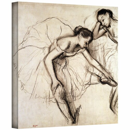 'Two Dancers Resting' by Edgar Degas Gallery-Wrapped on Canvas